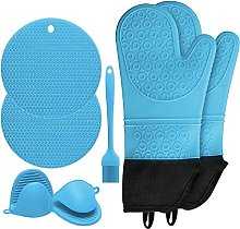Frotox Heat Resistant Silicone Kitchen Oven Glove,