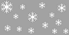 Frozen Snowflakes Wall Stickers DIY Removable Wall