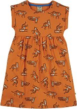 FRUGI GOTS Orange Jersey Tiger Dress - 4-5 years