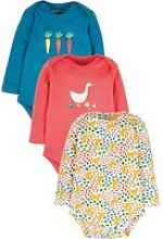 Frugi Super Special Multi Geese Body - Pack of 3