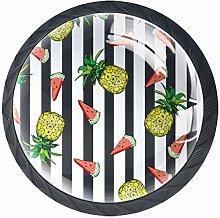 Fruit 4 Packs Kitchen Cabinet Knobs,Pulls Cupboard