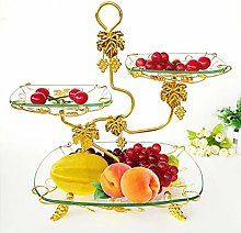 Fruit Basket Bowl, Glass Fruit Plate, Cake Stand,