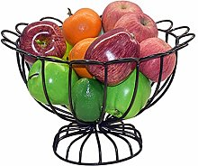 Fruit Basket Bowl Rack Chrome Metal Large Capacity