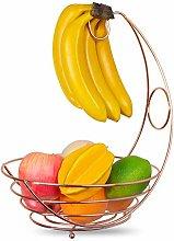 Fruit Basket Bowl with Banana Hanger Hook -