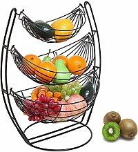Fruit Basket Stand 3 Tier Large Capacity Bowl