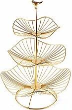 Fruit Basket Stand - 3 Tier Large Capacity Metal