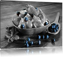 Fruit in a Wooden Bowl Art Print on Canvas in