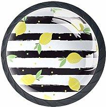 Fruit Lemon Stripe Citrus Cabinet Door Knobs