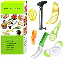 Fruit Slicer Set of 6 Pineapple Corer, Watermelon