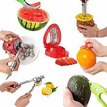 Fruit Slicers Sets of 7/ Manual Lemon Squeezer,