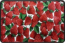 Fruit Strawberry Doormat Rug Easy to Clean Non
