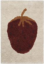 Fruiticana - Fraise Rug - / Small - Tissé main by