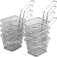 Fry Basket,8 Pcs Mini Stainless Steel Potato Chips