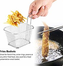 Fry Basket, Mini Stainless Steel Chips Deep Fry