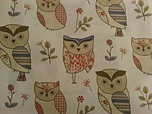 Fryett's Hoot 100% Cotton Upholstery Fabric