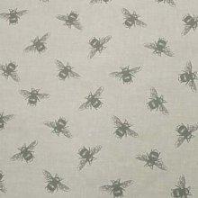 Fryetts Bees Linen PVC Fabric Wipe Clean