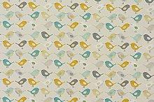 Fryetts Birds PVC Fabric Wipe Clean Tablecloth