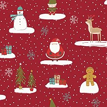 Fryetts Cool Yule PVC Fabric Wipe Clean Tablecloth