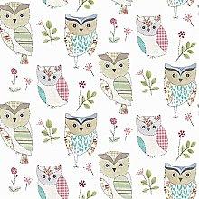 Fryetts Hoot Sage PVC Fabric Wipe Clean Tablecloth