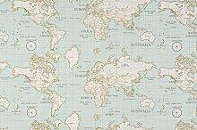 Fryetts Maps Duckegg PVC Fabric Wipe Clean