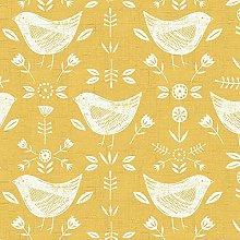 Fryetts Narvik Birds Design Ochre PVC Fabric Wipe
