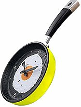 Frying Pan Omelette Clock, Kitchen Cafe Wall