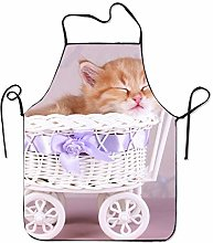 Fs2A1X Unisex Custom Aprons Baby Cat Waterproof