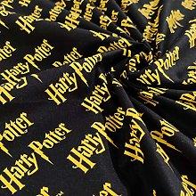FS635_15 Harry Potter Logo Cotton Fabric Design