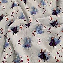 FS763_2 Disney Frozen Anna & Elsa Cotton Fabric