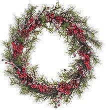 FSADGNO Handmade Christmas Winter Wreath 21 Inches