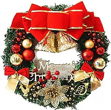 FSADGNO Paper Flower Wreath Hanging Christmas Cane
