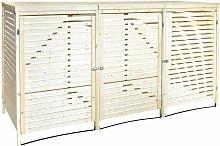 FSC Triple Wooden Bin Store Wheelie Bin Storage