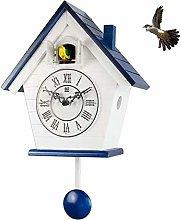 FSHB Wood Cuckoo Clock Mechanism Bird Living Room