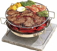FSJD Barbecue Grill Foldable Stainless Steel Mini