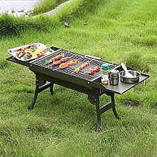 FSJD Foldable Charcoal Grill with Storage Shelf,