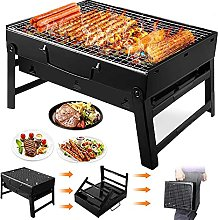FSJD Folding Black Barbecue Charcoal Grill,