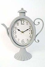 FSL Clock Vintage style Kitchen Metal Grey ornate