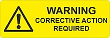 FSSS Ltd Corrective action required labels labels