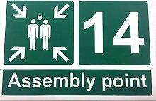 FSSS Ltd Fire assembly point numbered sign 400 x