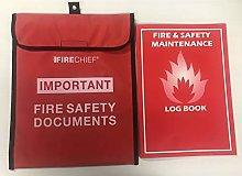 FSSS Ltd FIRE SAFETY DOCUMENT HOLDER WITH A4 LOG
