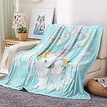 FTCAKET Personalised Baby Blankets Girl Blue