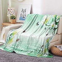 FTCAKET Personalised Baby Blankets Girl Green
