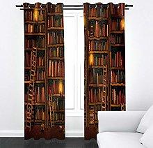 FTJDR Thermal Blackout Curtains - Bookshelf