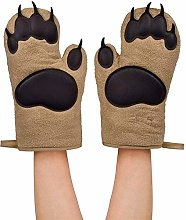 FTQ Oven Mitts Bear Paw Oven Gloves Insulated