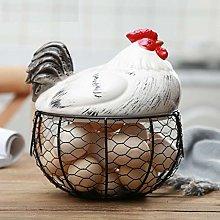 FUFRE Metal Egg Basket Chicken Egg Basket Holder,