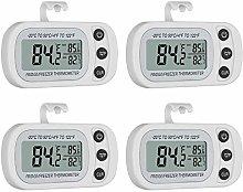 Fugen 4 PCS Waterproof Digital Fridge Thermometer