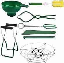 fuguzhu 8pcs Canning Jar Lifter Kit, Include
