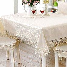 FuHouse 100x200cm Satin Tablecloth Floral