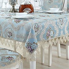 FuHouse 110x110cm Tablecloth Floral Embroidered