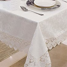 FuHouse 110x160cm White Table Cover Cloth with